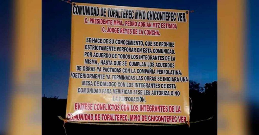 Campesinos de Chicontepec se oponen al fracking y bloquean carretera (Veracruz)