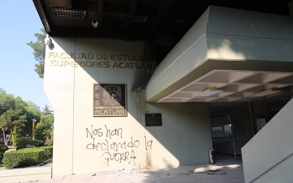 Exigen cese de violencia contra estudiantes en la UNAM