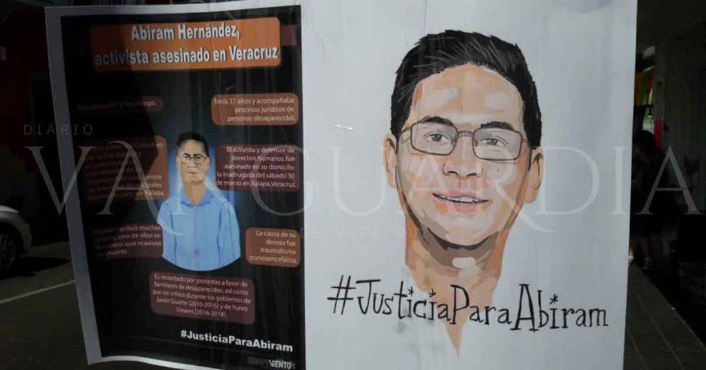 Piden justicia para Abiram Hernández, defensor de derechos humanos (Veracruz)