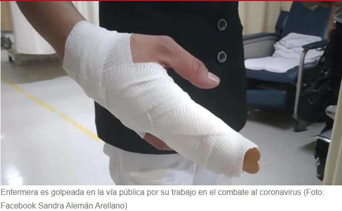 Golpearon a una enfermera en San Luis Potosí por su labor contra el COVID-19