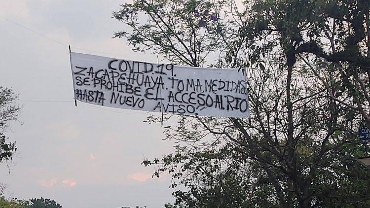 Montan retenes en comunidades de la Mixteca y Sierra Norte por regreso de migrantes y miedo al Covid-19 (Puebla)