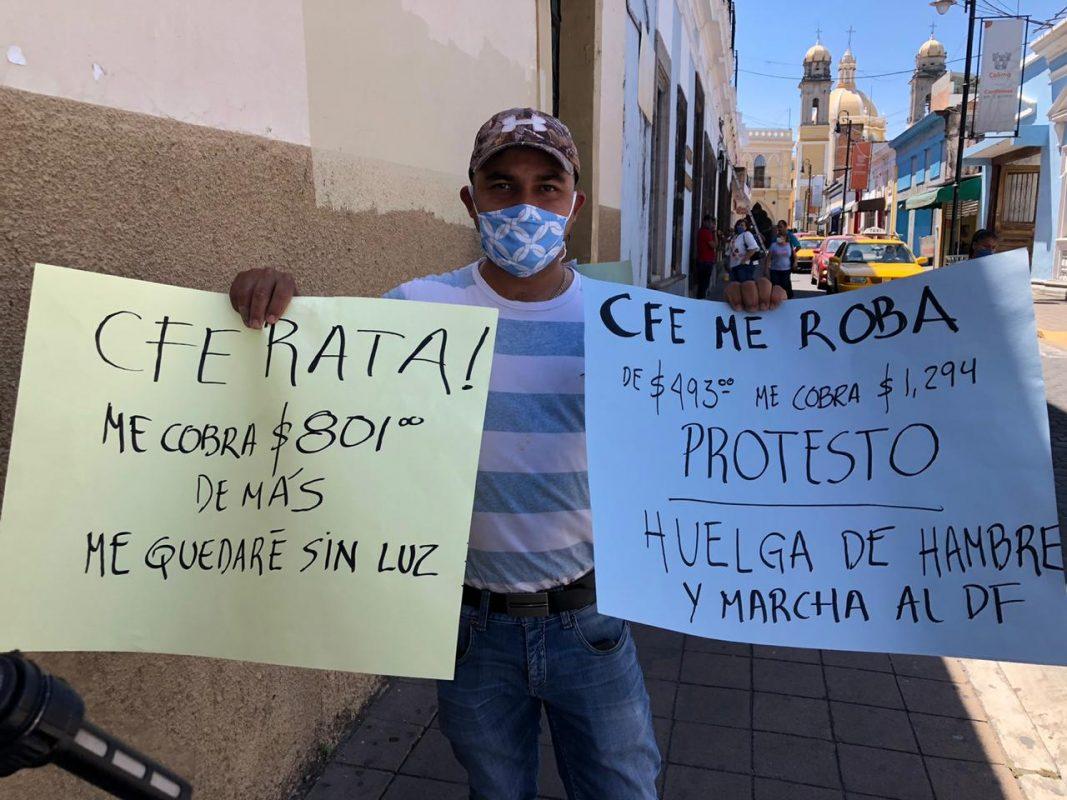 Protestan colimenses por cobro desmedido de la CFE