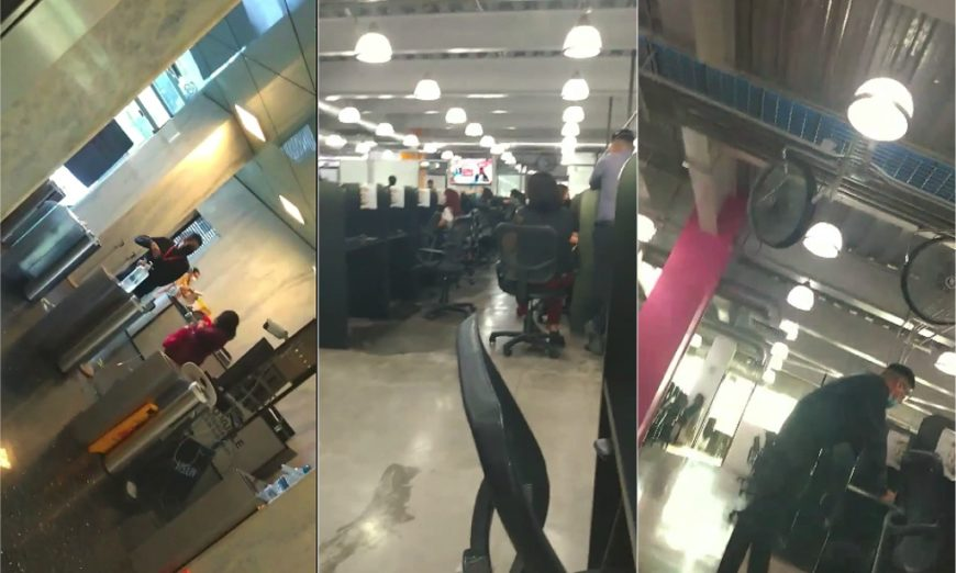 Call center al servicio de Grupo Salinas burla la clausura y sigue operando (Ciudad de México)