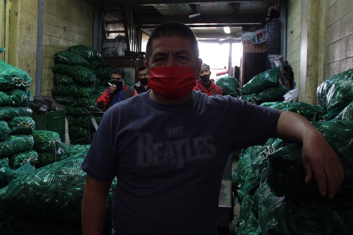 El pasillo OP, epicentro de los contagios en la Central de Abasto (Ciudad de México)