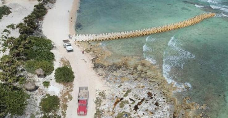 Suspenden obra de Grupo Posadas en Chemuyil: Logran ambientalistas cese provisional de la construcción de complejo hotelero a un lado de Xcacel-Xcacelito