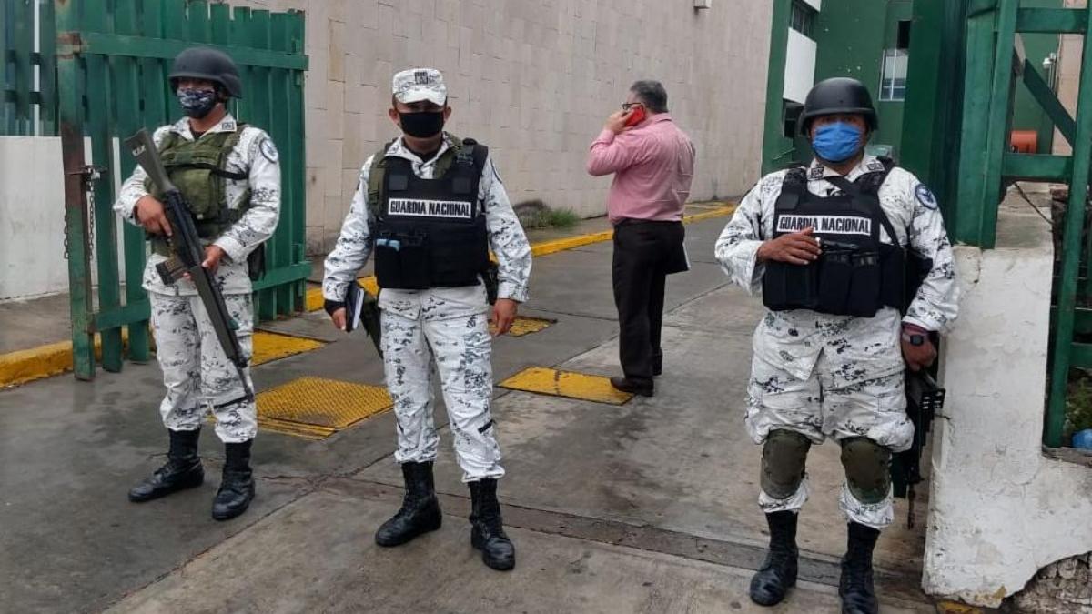 Guardia Nacional vigila hospitales del IMSS en la frontera de Tamaulipas