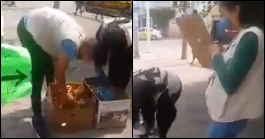 Inspectores multan a artesanos en Jalisco y les quitan producto que intentaban cambiar por comida
