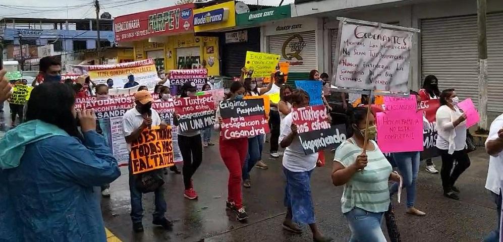 En Tuxtepec, abandonan confinamiento para marchar y exigir justicia por desaparecidas (Oaxaca)