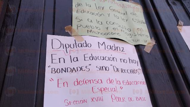 CNTE advierte movilizaciones en Michoacán por Ley de Educación, culpa a diputados