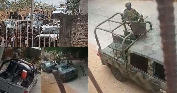 """Ejército, Marina y FGE """"revientan"""" la Normal de Arteaga (Michoacán)"""