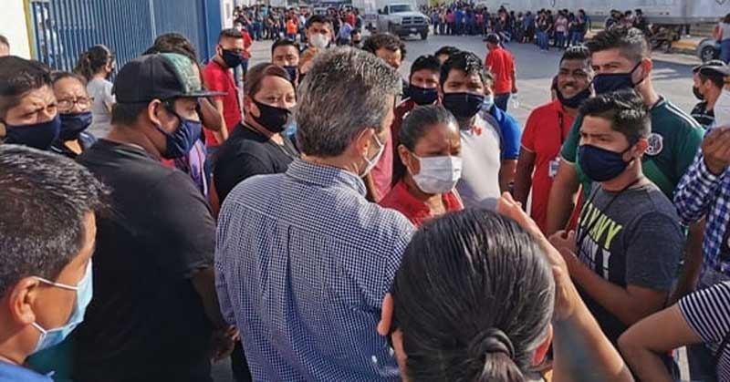 PARAN TRABAJADORES MAQUILA POR MUERTE DE OBREROS (Tamaulipas)