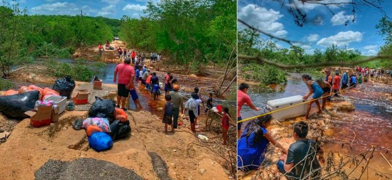 Puente ciudadano para ayudar a los damnificados en el sur de Yucatán