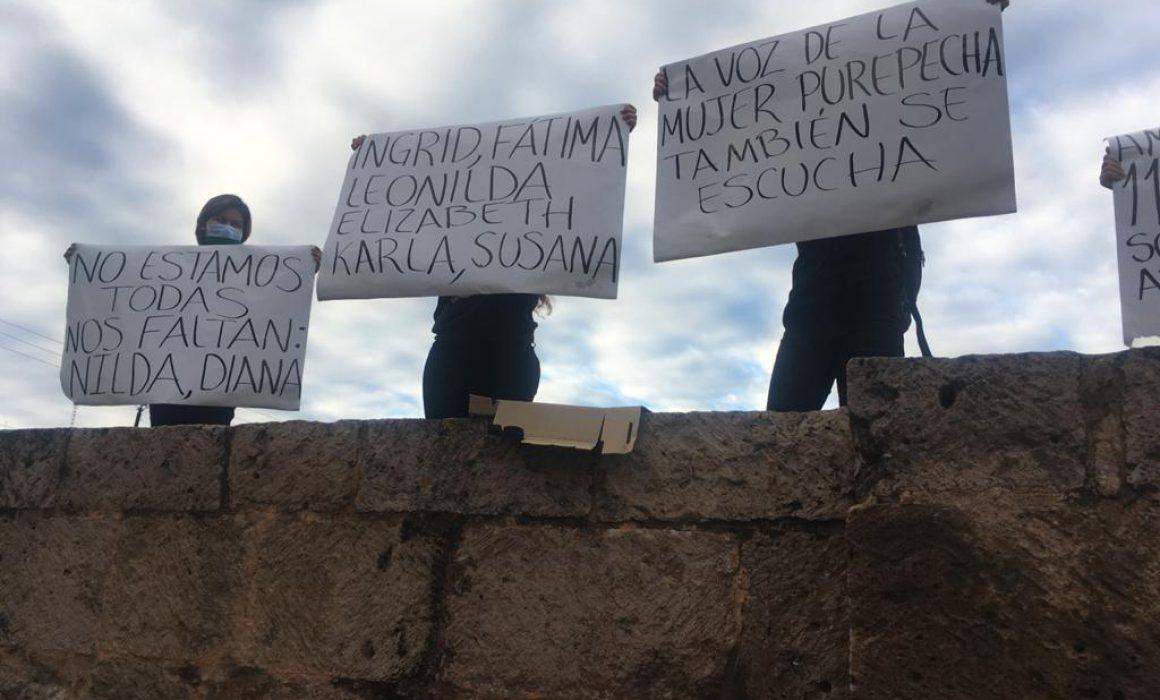 Sobre Acueducto, feministas exigen incluir feminicidio en agenda federal  (Michoacán)