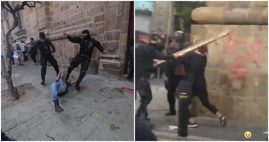 VIDEOS: Usuarios de redes exhiben a policías que agredieron ayer a manifestantes en Guadalajara (Jalisco)