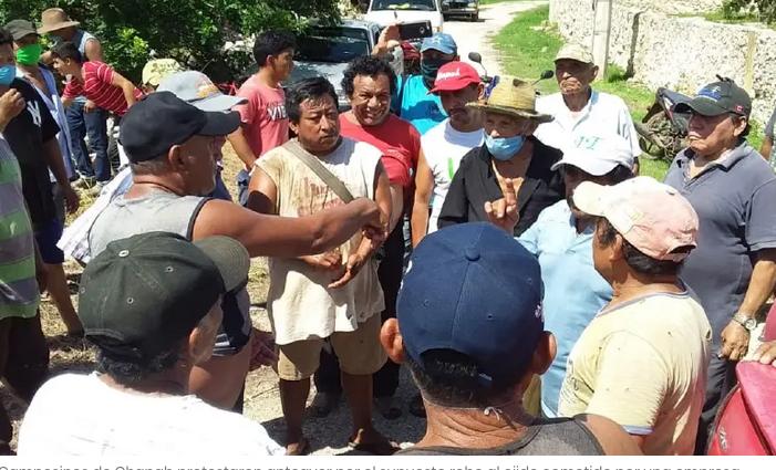 Campesinos de Chapab protestan por despojo de tierras (Yucatán)