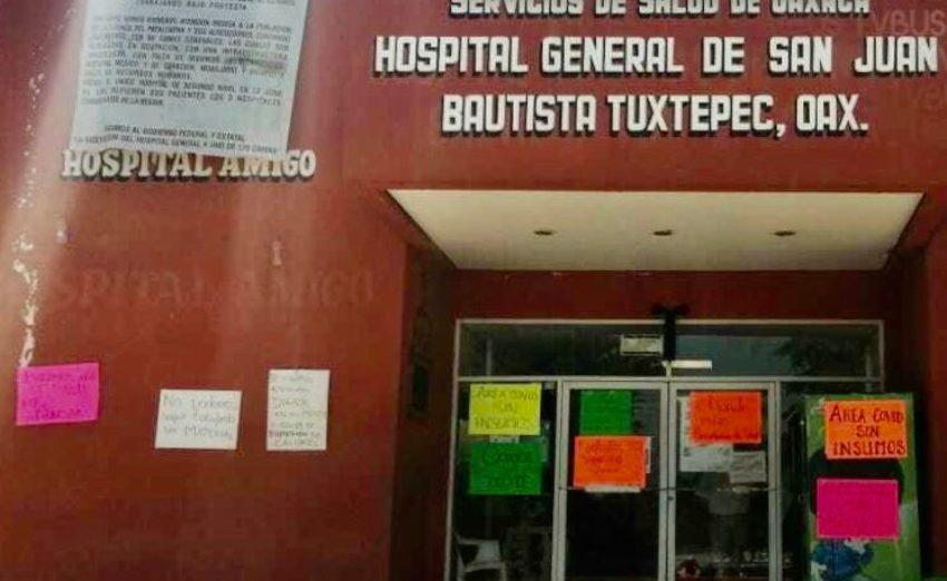 Por falta de equipo médico, trabajadores del Hospital Regional de Tuxtepec paran labores (Oaxaca)