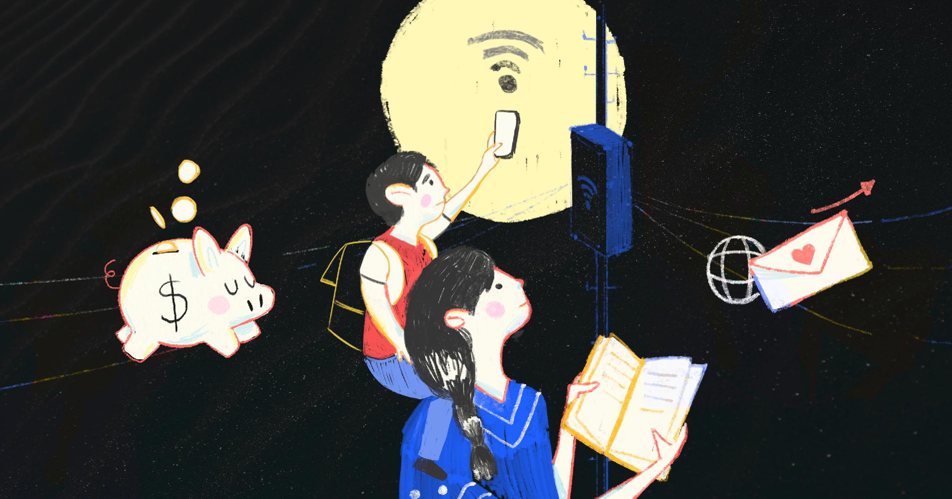 Sin dinero ni internet en casa, madres salieron a buscar WiFi en la calle para la tarea de sus hijos (Ciudad de México)