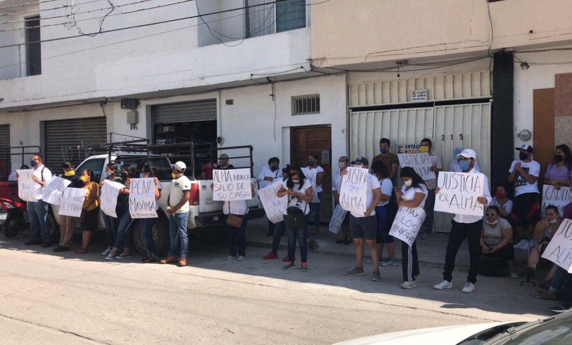 Protestan en Rioverde: exigen justicia por feminicidio  (San Luis Potosí)
