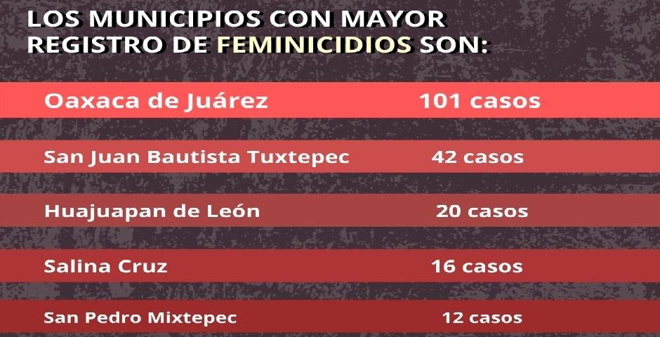 Mujeres desaparecidas y feminicidios a dos años de la Alerta de Violencia de Género en Oaxaca
