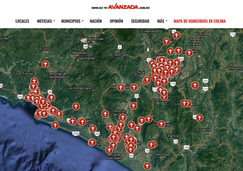 Asesinaron a 426 personas en Colima en lo que va de 2020