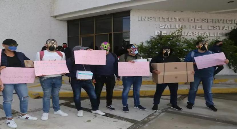 Protestan pacientes con VIH en Aguascalientes; exigen tratamientos