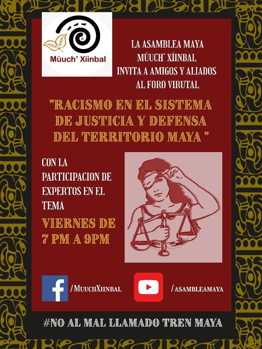 Conversatorio de la asamblea Múuch' Xiimbal: la defensa del territorio es jurídica y política