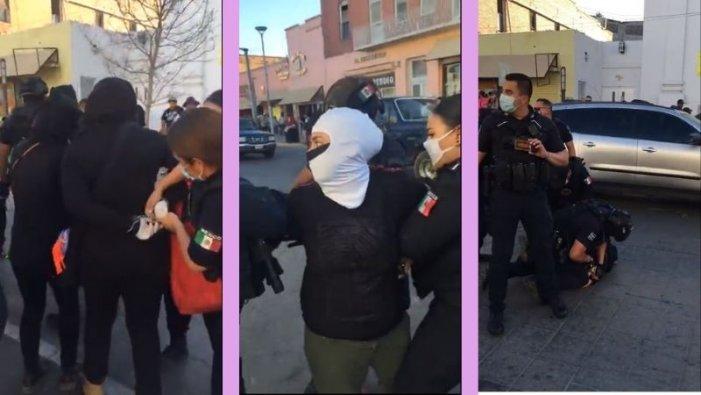 Detienen a 40 activistas en marcha contra violencia policial en Ciudad Juárez (Chihuahua)