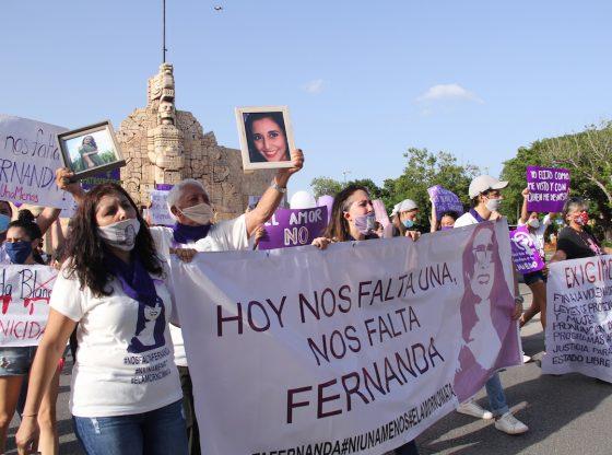Alzan la voz por Fernanda y todas las víctimas de feminicidios (Yucatán)