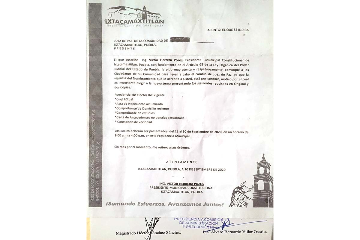 Remueven a 6 jueces de paz en Ixtacamaxtitlán para favorecer a Almaden Minerals (Puebla)