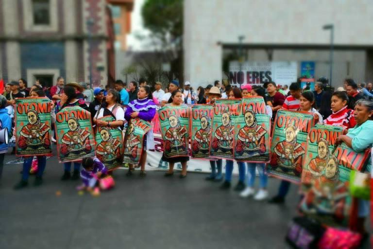 La resistencia y rebeldía de los otomíes del CNI en la Ciudad de México