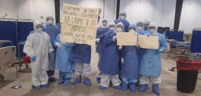 Personal médico encargado de atender a pacientes COVID-19 sigue sin recibir pago en Yucatán