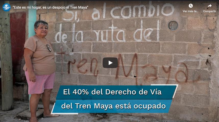"""""""Yo de aquí no me voy"""": ocupada, 40% de la vía para Tren Maya"""
