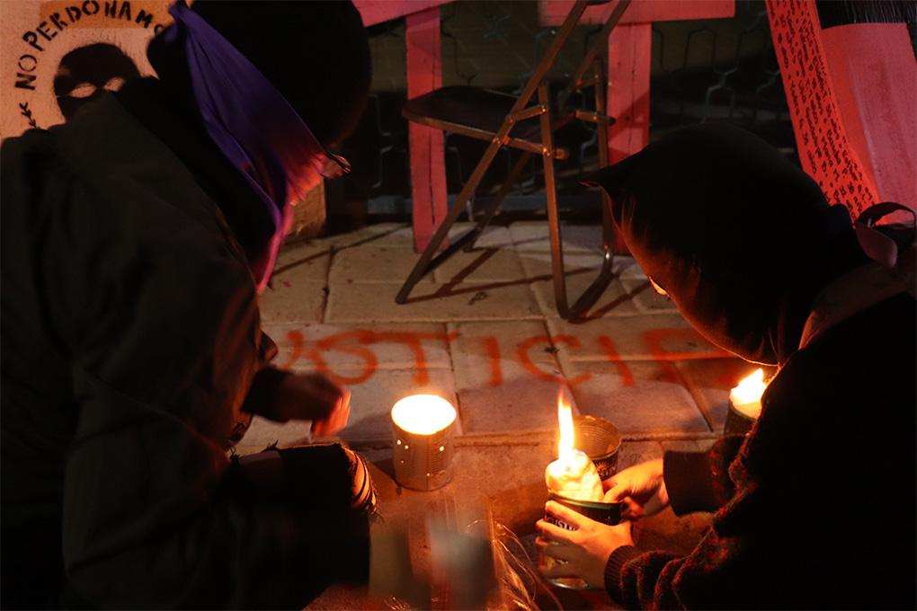 Toma simbólica contra el feminicidio en Oaxaca