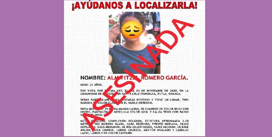 Piden renuncia de fiscal tras asesinato de Alma Itzel (Oaxaca)