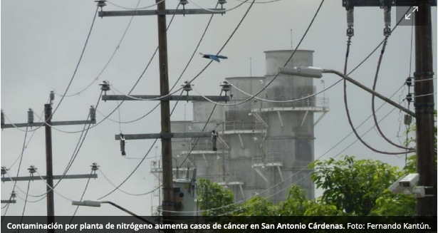 Contaminación por planta de nitrógeno aumenta casos de cáncer en San Antonio Cárdenas (Campeche)