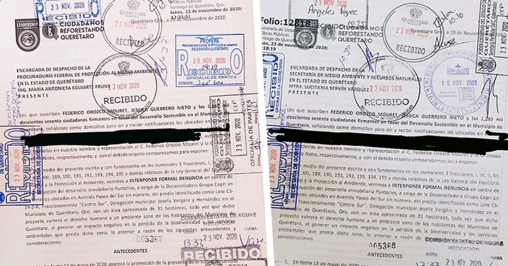 """Denuncian ante Semarnat y Profepa la construcción de """"Punto Olivo"""", en Querétaro"""