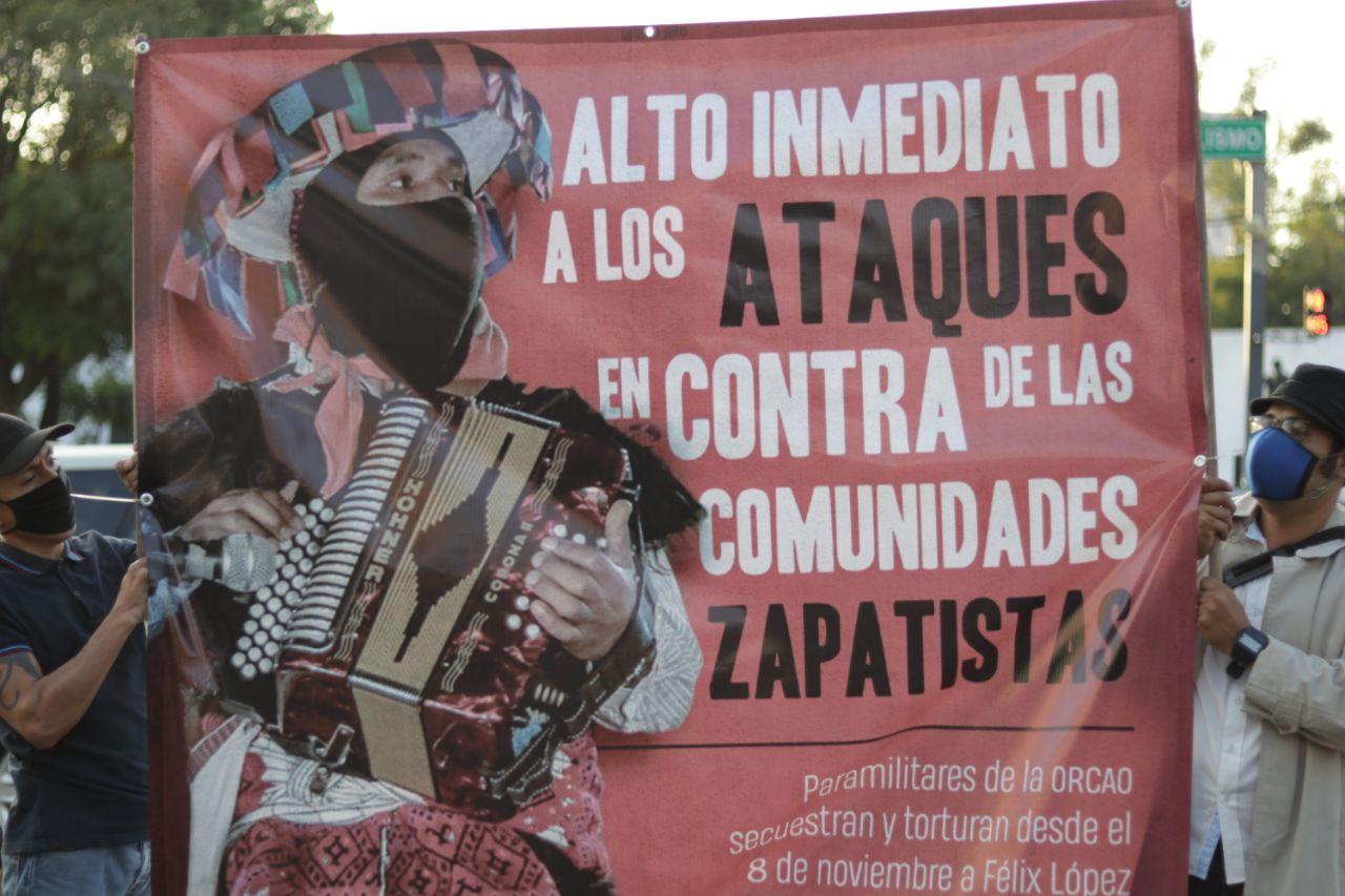 En resistencia y solidaridad, Jalisco reclama ¡Alto a las agresiones contra las comunidades zapatistas!