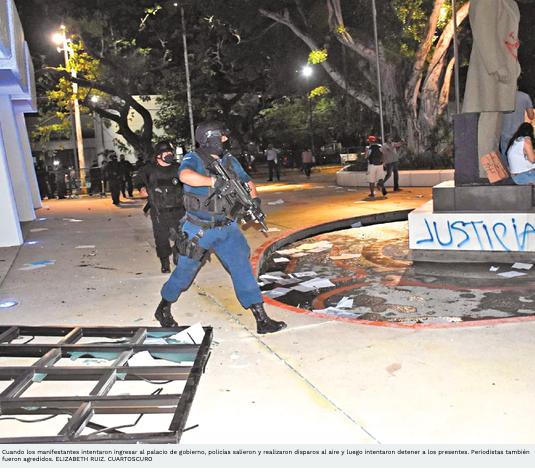 Dispersan entre balazos protesta contra feminicidio en Q.Roo