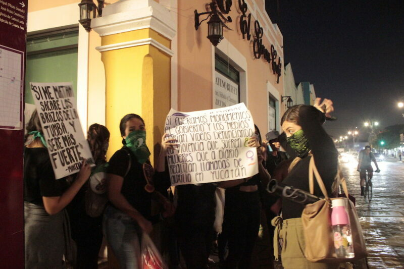 A una año de que la SSP violentó a feministas, no hay castigo ni justicia (Yucatán)