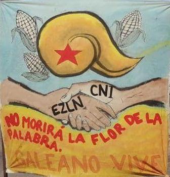 Acción en Mazatlán, Sinaloa en repudio a los ataques paramilitares en contra de comunidades zapatistas