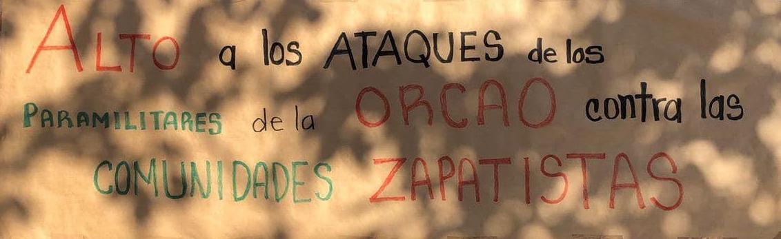 Acciones en Culiacán, Los Mochis y Escuinapa Sinaloa en repudio a los ataques paramilitares en contra de las comunidades zapatistas