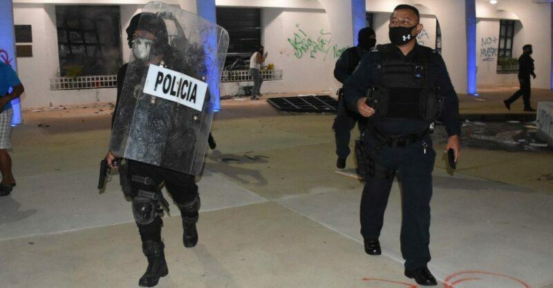 Represión policiaca de protesta en Cancún fue planeada: Red Feminista
