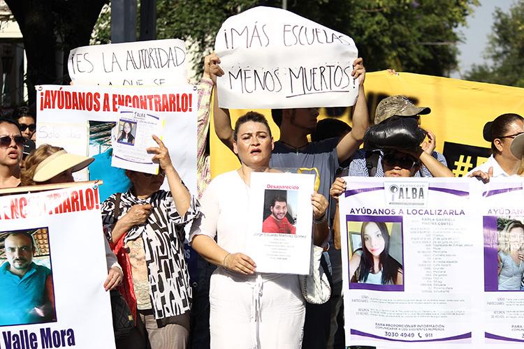 Colectivos piden una fiscalía autónoma para desaparecidos (Jalisco)