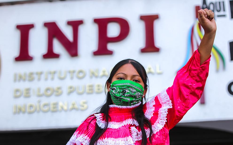 Migración indígena: la toma otomí del INPI por una vida digna