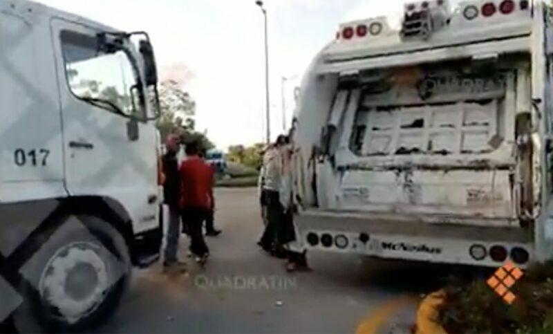 Bloquean empleados de Intelligencia México acceso al relleno sanitario