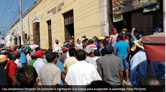 Turba de ejidatarios suspende asamblea informativa en Acanceh (Yucatán)
