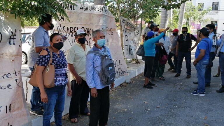 Ejidatarios protestan por venta ilegal de tierras en Muxupip (Yucatán)