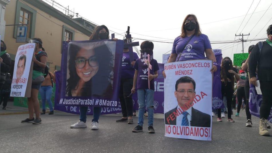 8M2021 Con marchas-protestas, oaxaqueñas exigen no más feminicidios; van 510 del 2016 a la fecha