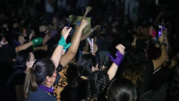 Cancún; Ante negativa del Congreso, feministas reafirman su lucha por aborto (Quintana Roo)