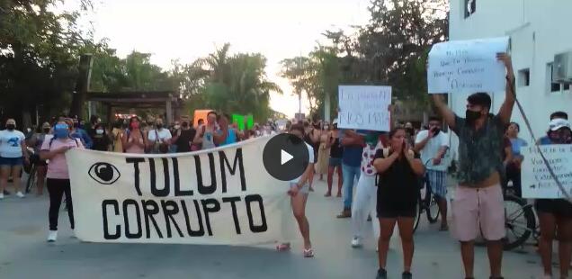 'En Tulum, la policía no cuida, asesina': protestan por asesinato de mujer